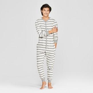 Men's Striped Union Suit - Goodfellow & Co™ Gray S