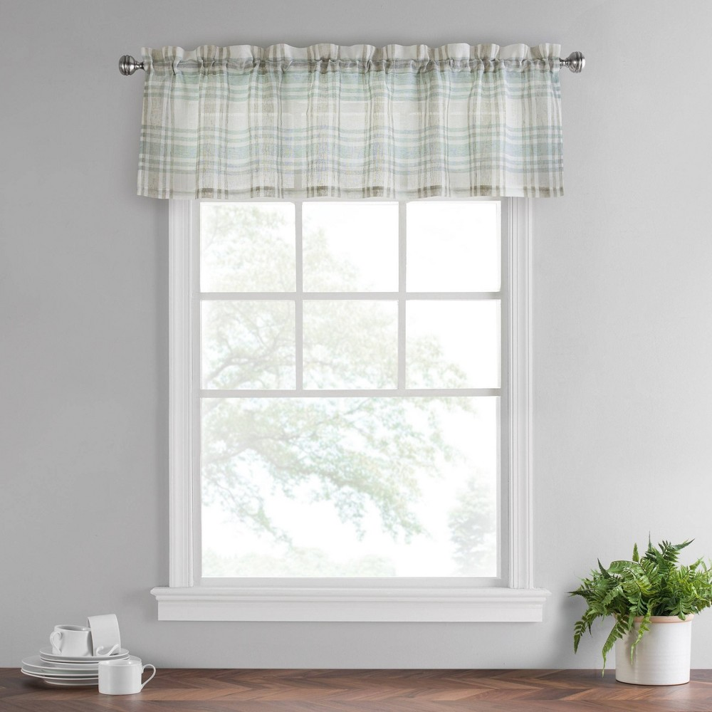 "Image of ""14""""x52"""" Featherdown Valance Blue - Vue"""