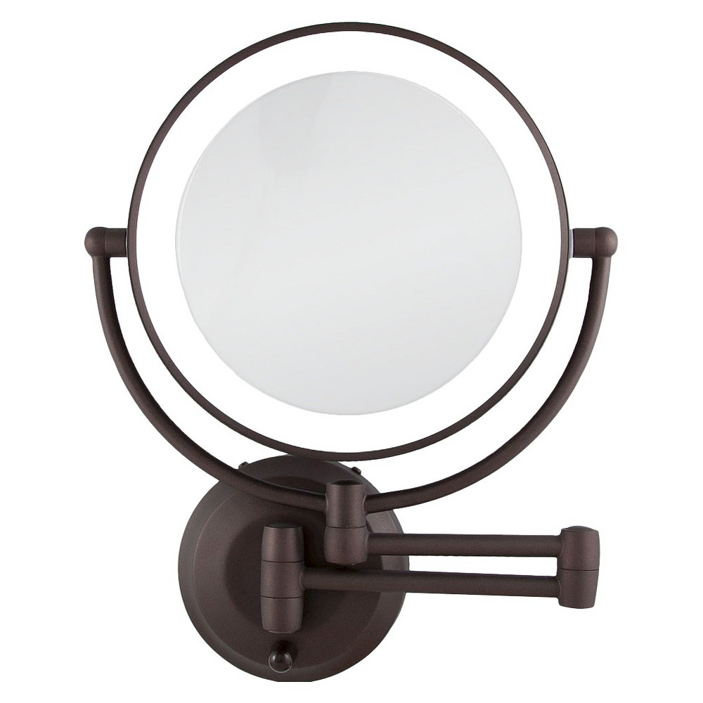 Image of Zadro Dual-Sided LED Lighted 1X/10X Mirror - Oil-Rubbed Bronze