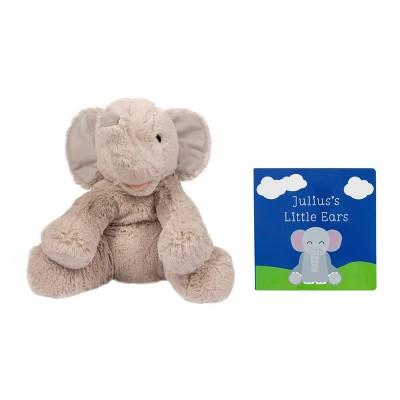 Pearhead Elephant Plush and Book Set 2pk