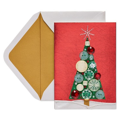Papyrus Christmas Cards.Papyrus Pearls And Button Tree Greeting Card