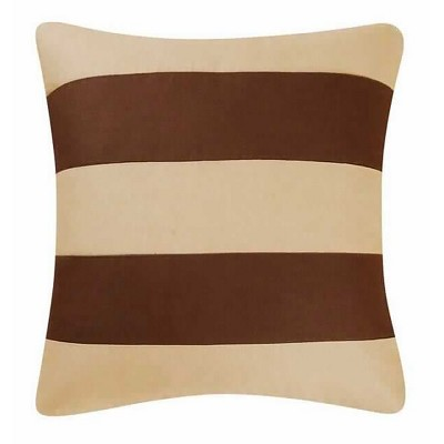 C&F Home Camel/Brown Stripes Pillow