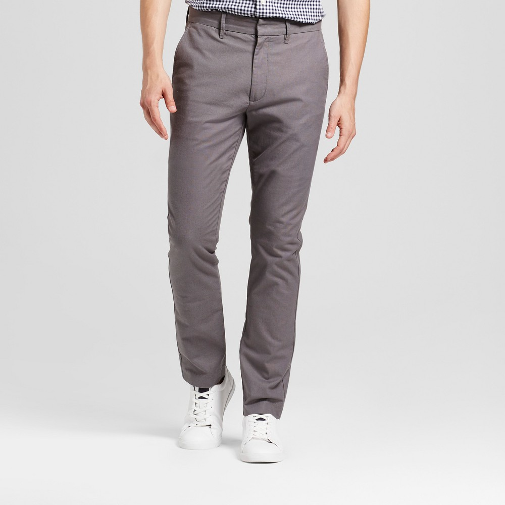 Men's Slim Fit Trouser Pants - Goodfellow & Co Gray 38X30