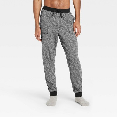 Men's Double Weave Jogger Pajama Pants - Goodfellow & Co™ Black