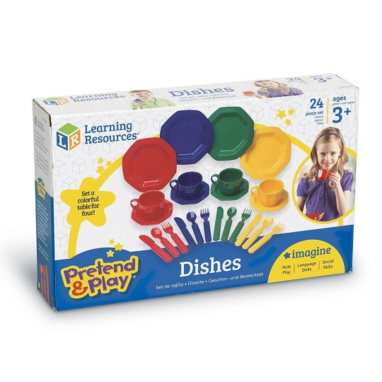 Learning Resources Pretend and Play Dish Set image number null