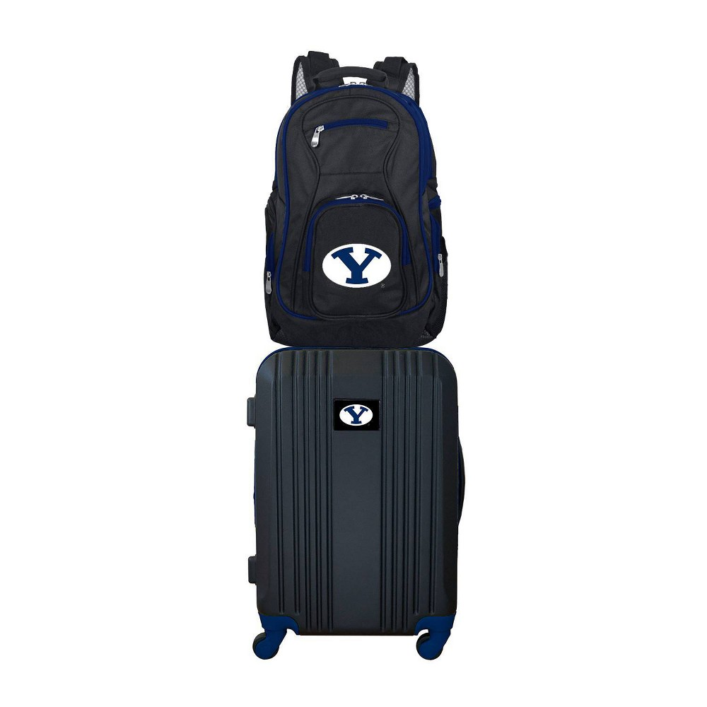 NCAA Byu Cougars Premium 2pc Backpack & Carry-On Luggage Set