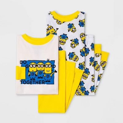 Toddler Boys' 4pc Despicable Me Minions Pajama Set - Yellow