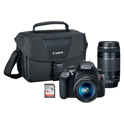 Canon® EOS Rebel T6 Kit w/ 18-55mm IS Lens, 75-300mm Zoom Lens, Canon Bag and 16GB SD Card