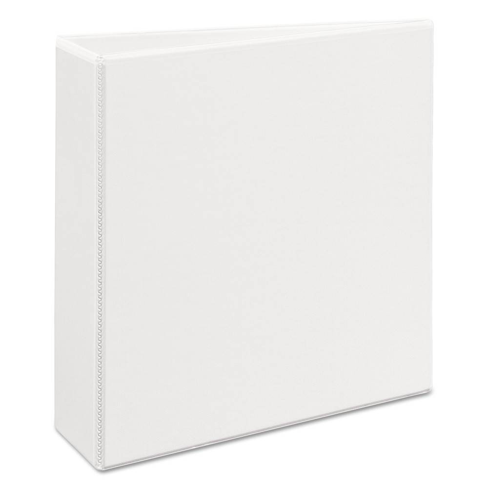 """Image of """"3"""""""" Heavy-Duty View Ring Binder with Locking 1-Touch EZD Rings White - Avery"""""""