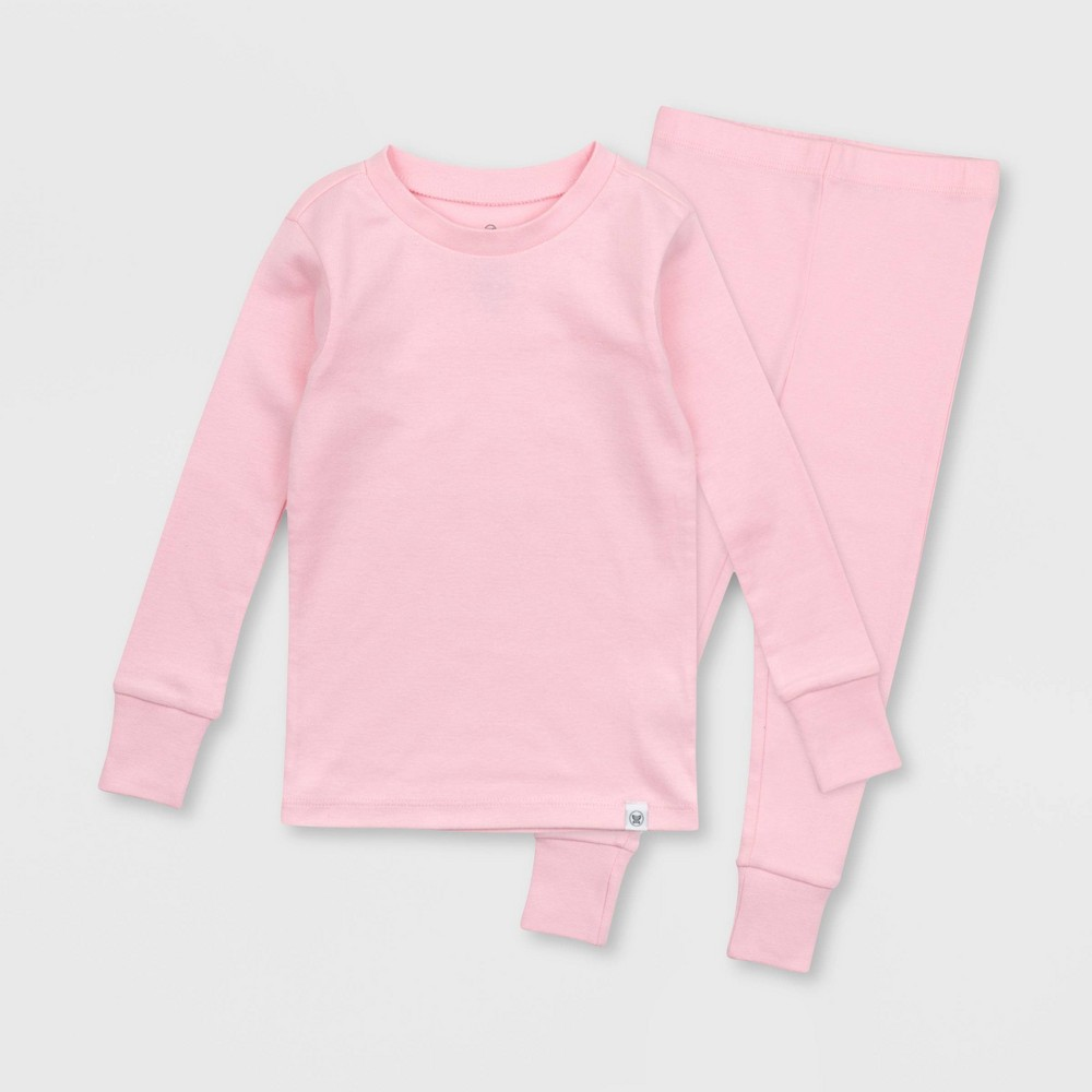 Honest Baby Toddler Solid Tight Fit Pajama Set Pink 3t