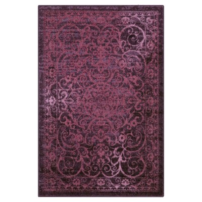 Purple Scroll Tufted Area Rug 5'X7' - Maples