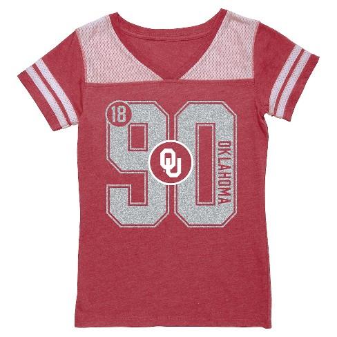 NCAA Oklahoma Sooners Girls' V-Neck Tunic Shirt - L - image 1 of 1