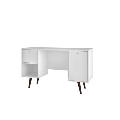 Edgar 1 Drawer Mid Century Office Desk - Manhattan Comfort