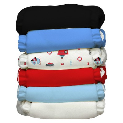 Charlie Banana Reusable Diaper 6 pack One Size - Ahoy