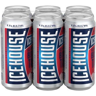 Icehouse Ice Lager Beer - 6pk/16 fl oz Cans