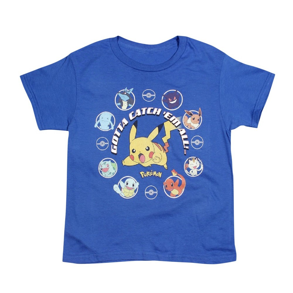 Boys' Pokémon 'Gotta Catch Em' T-Shirt - Royal Blue XL