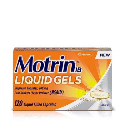 Pain Relievers: Motrin Liquid Gels