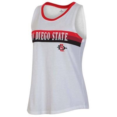 NCAA San Diego State Aztecs Women's White Tank Top