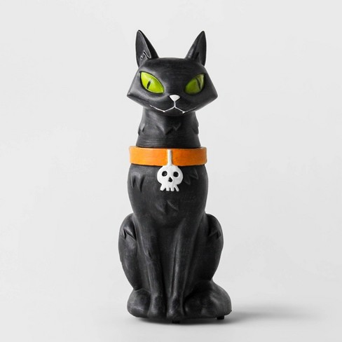 Animated Black Cat Statue Decorative Halloween Prop - Hyde & EEK! Boutique™ - image 1 of 1