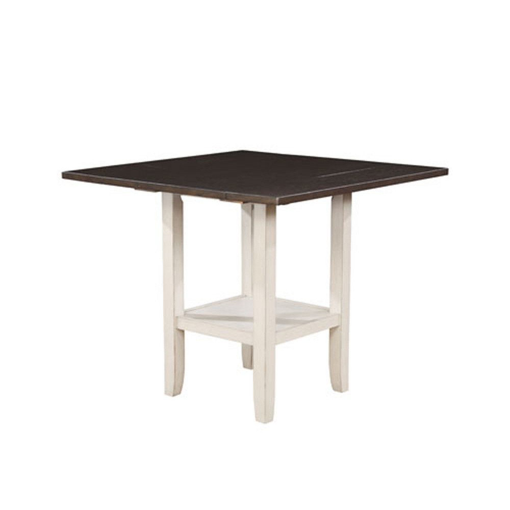 Larson Square Wood Counter Height Dining Table Espresso (Brown) - Sun & Pine