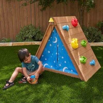 KidKraft A-Frame Hideaway & Climber Tent