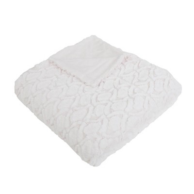 "50""x60"" Dakota Faux Fur Throw Blanket - Décor Therapy"
