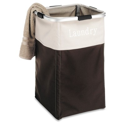 Whitmor Easycare Square Laundry Hamper Java