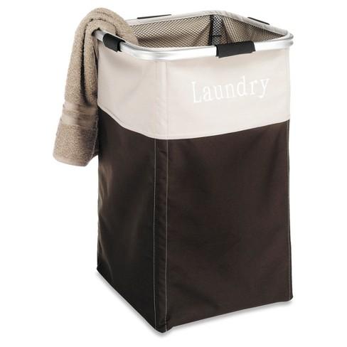 Whitmor Easycare Square Laundry Hamper Java - image 1 of 4