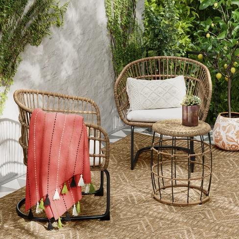 Southport 3pc Wicker Motion Patio Chat Set Linen - Opalhouse™ : Target