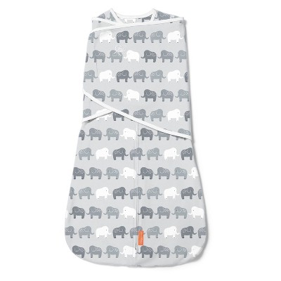 SwaddleMe Arms Free Convertible Swaddle - Elephant In A Row 4-6M