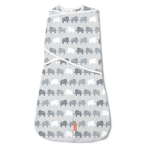 SwaddleMe Arms Free Convertible Swaddle Wrap - Elephant In A Row 4-6M - image 1 of 4