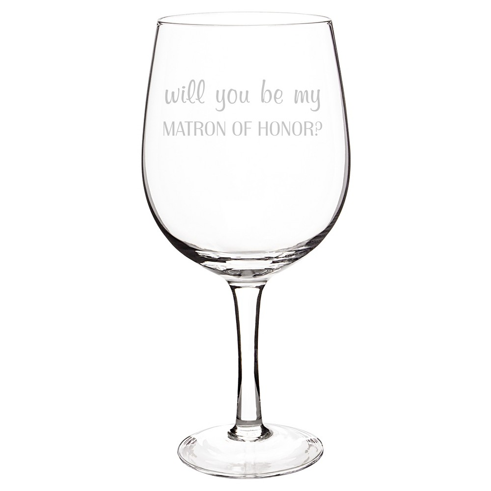 Matron of Honor Wine Glass Clear XL