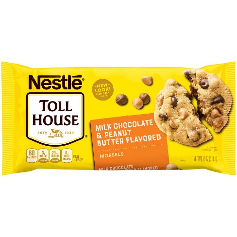 Nestle Toll House Peanut Butter & Milk Chocolate Morsels - 11oz - image 1 of 4