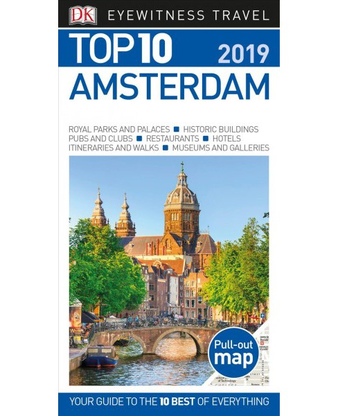 Dk Eyewitness Top 10 Amsterdam -  by Fiona Duncan & Leonie Glass (Paperback) - image 1 of 1