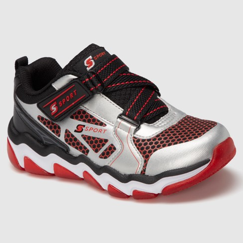 Boys' S Sport by Skechers Hyperbole Athletic Shoes - Gray/Red 4 - image 1 of 4