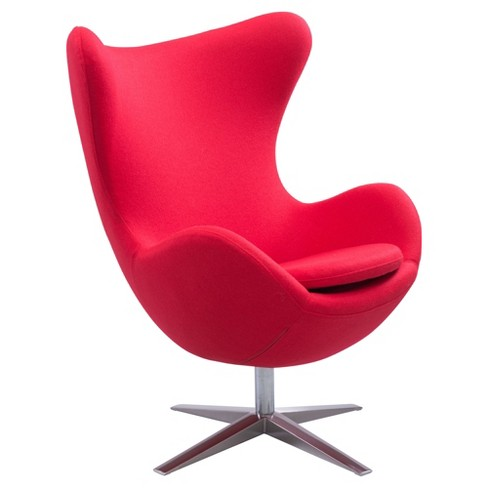 Modern Upholstered Arm Chair - Red - Zm Home - image 1 of 5