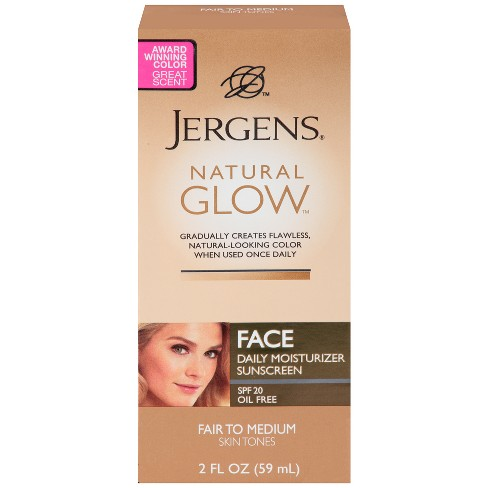 Jergens Natural Glow Face Moisturizer 2 oz (Fair/Medium) - image 1 of 4