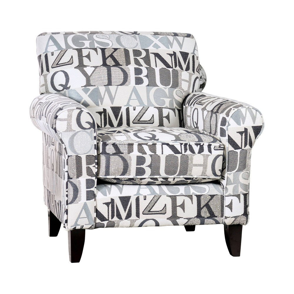 Stayton Rolled Arm Letter Chair Bluish Gray - miBasics