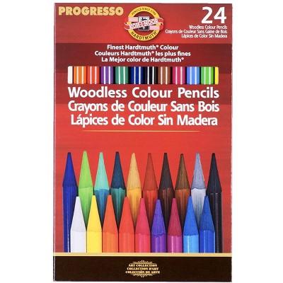 Koh-I-Noor Woodless Colored Pencils, Assorted, set of 24