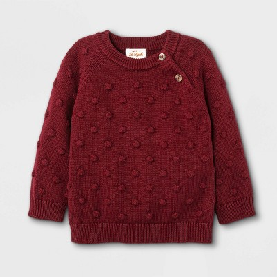 Baby Bobble Pullover Sweater - Cat & Jack™ Maroon