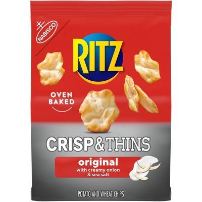 Ritz Crisp & Thins Sea Salt Potato And Wheat Chips - 7.1oz