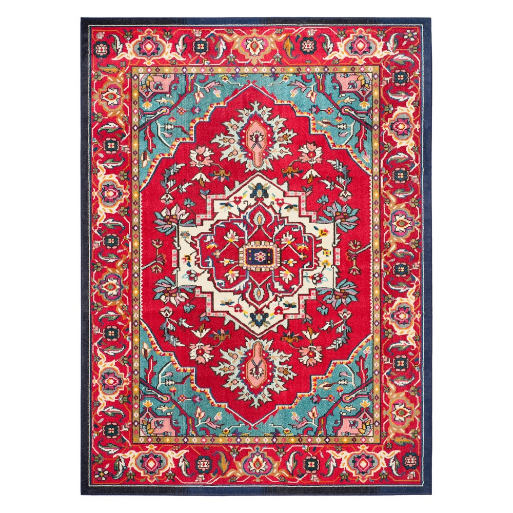 Medallion Area Rug Red/Turquoise
