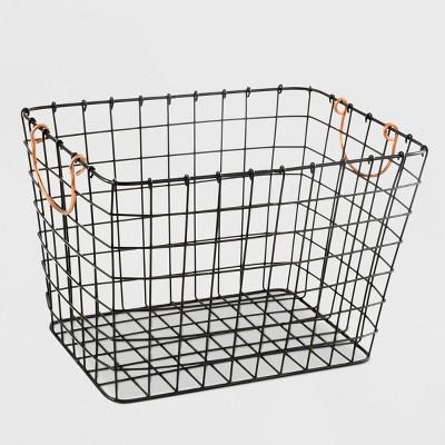 14.2  Metal Wire Basket Black - Smith & Hawken™