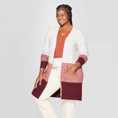 Women's Plus Size Long Sleeve Open Layering Cardigans - A New Day™ 4X