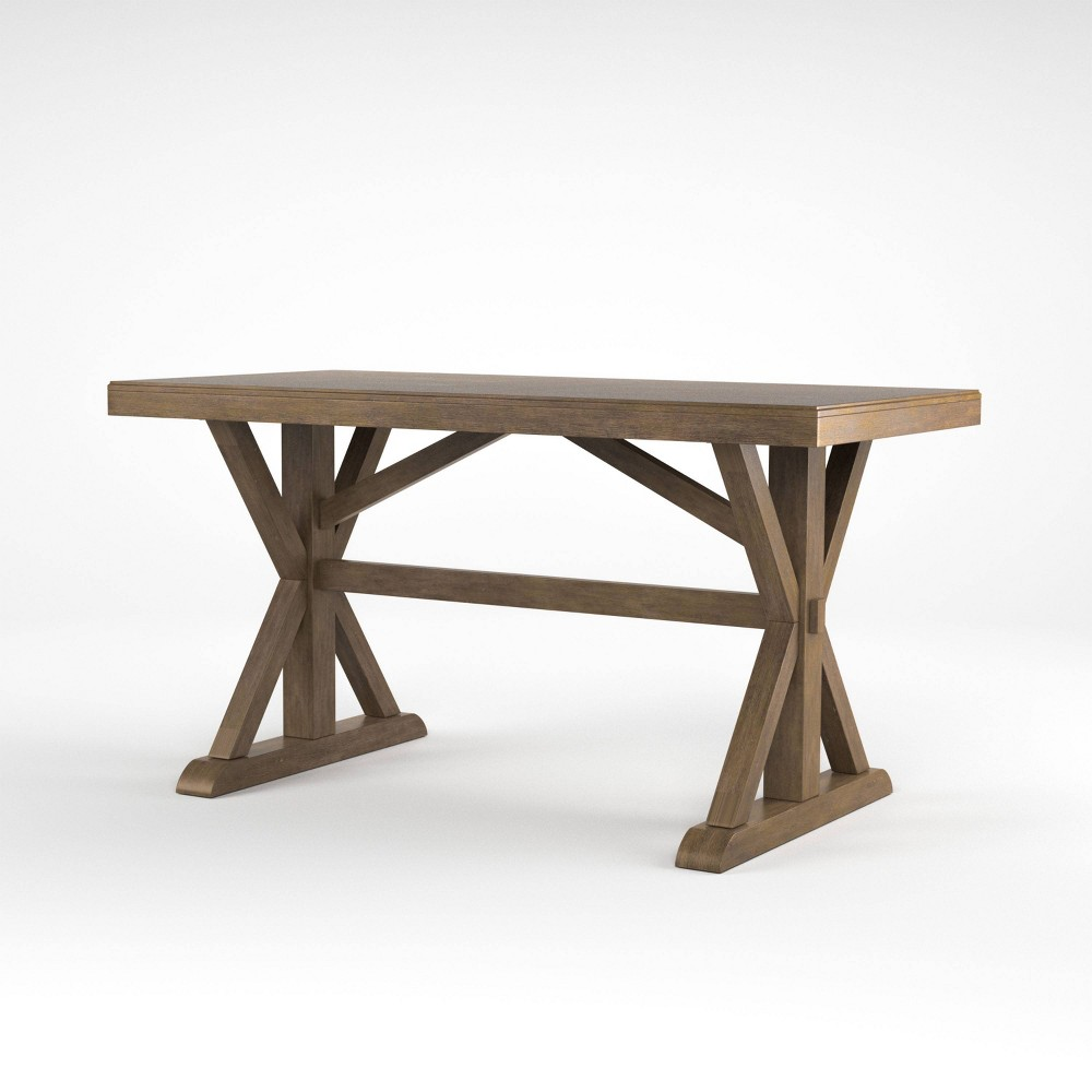 72 Kenoshq Rectangular Counter Height Table Rustic Oak - Sun & Pine