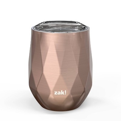 Zak Designs 11oz Fractal Double Wall Stainless Steel Wine Tumbler