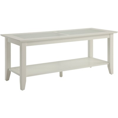 Carmel Coffee Table - White (Large)- Convenience Concepts