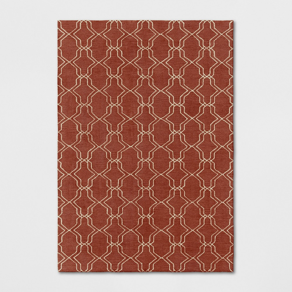 Best Review 7X10 Trellis Tufted Area Rugs Red Threshold