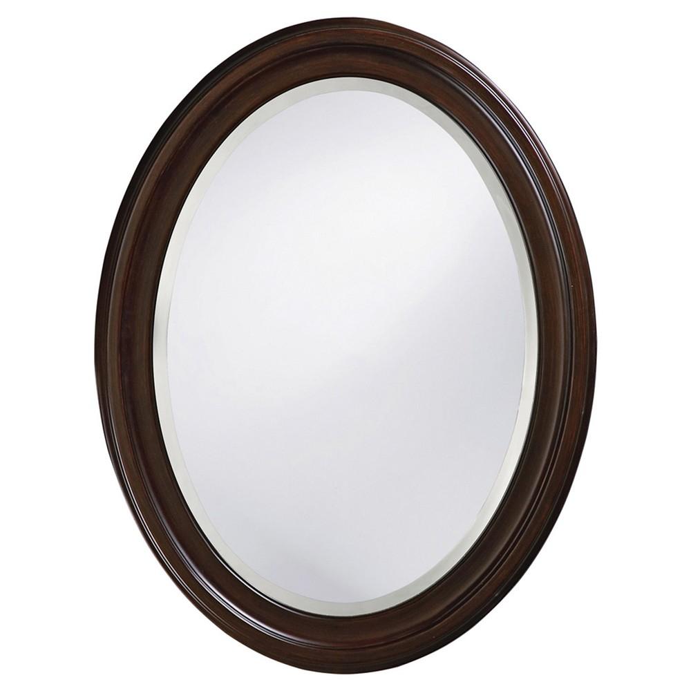 Image of Howard Elliott - George Chocolate Brown Mirror, Chocolate Heather