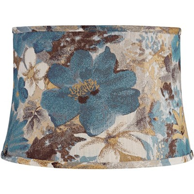 Springcrest Floral Fabric Drum Lamp Shade 14x16x11 (Spider)
